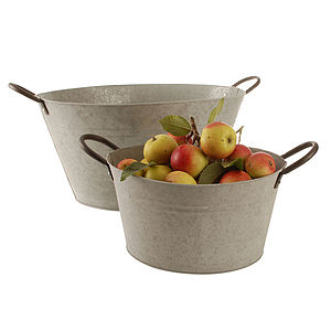 Oval Zinc Bucket
