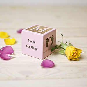 Personalised Baby Girl Block - gifts: under £25