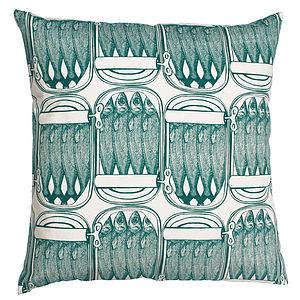 Sardine Tin Cotton Cushion