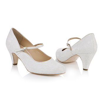 Dulcie Ivory Lace Mary Jane Wedding Shoes