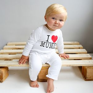 Personalised 'I Love' Romper - clothing