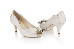 Lulu Leather Peep Toe Shoes - shoes