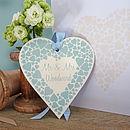 Personalised Enamel Wedding Heart And Card