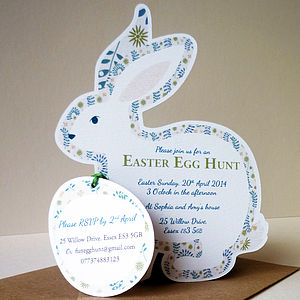 Personalised Easter Egg Hunt Invitations - personalised