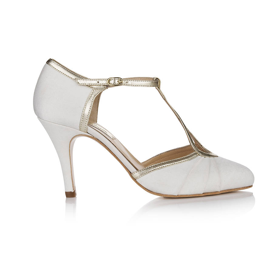 Orla Satin T Bar Wedding Shoes By Rachel Simpson