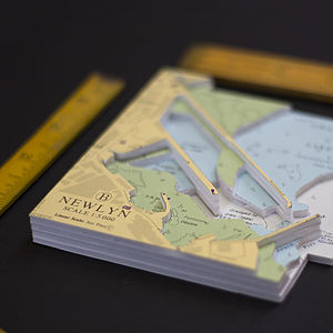 Bespoke Miniature Layered Maritime Chart - art & pictures