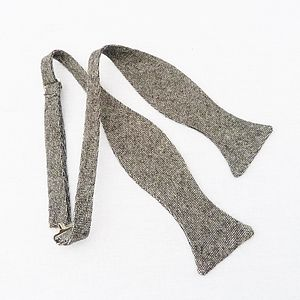 Tweed Self Tie Bow Tie - fashion