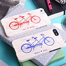Bicycle Made For Two iPhone Case