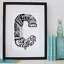 Personalised London Letter Print