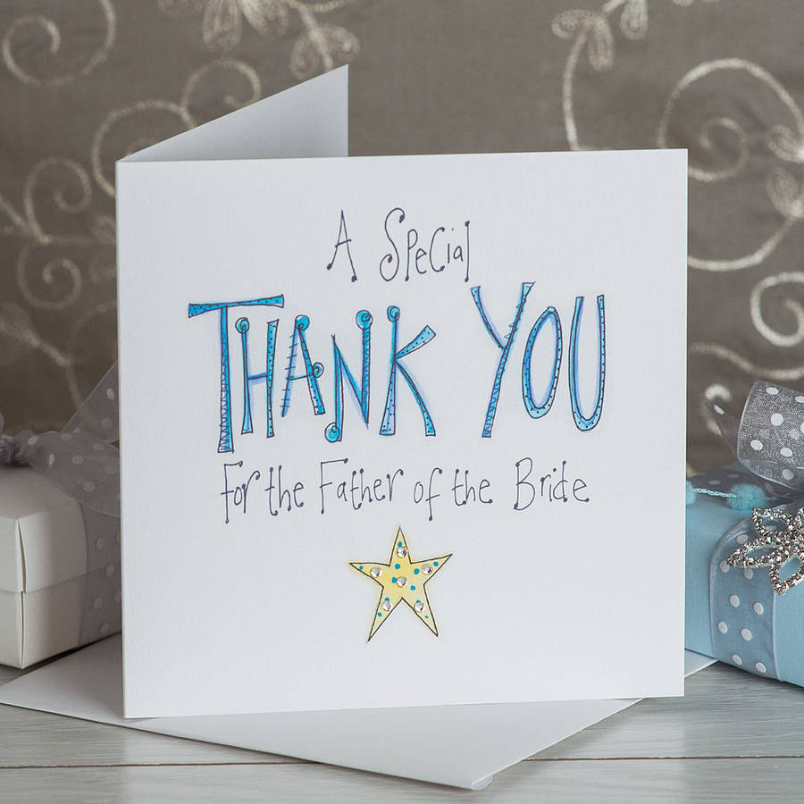 Crystal Father Of The Bride Thank You Card By Claire Sowden Design Notonthehighstreet