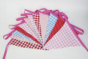 Spring Bunting Gingham And Flowers - art & decorations