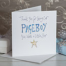 Crystal Page Boy Thank You Card