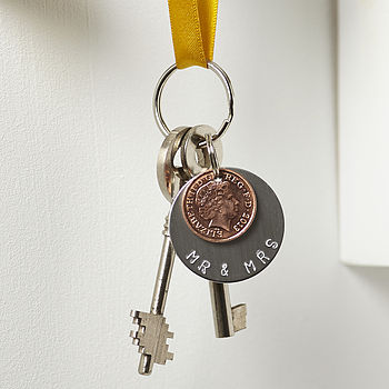 'Mr And Mrs' Year Of Marriage Keyring