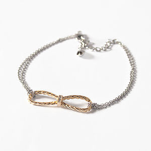 Mixed Colour Infinity Bracelet - mixed metals
