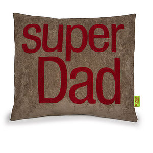 'Super Dad' Handmade Cushion