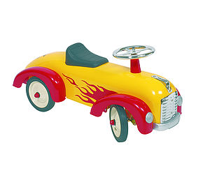 Yellow Hot Rod Speedster Ride On - bikes & ride on toys