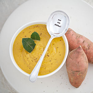 Personalised Silver Plated Vintage Soup Spoon - cutlery