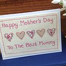 Personalised Hearts Mother's Day Card