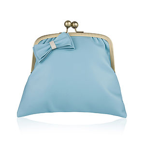 Tulip Leather Clutch Bag - women's accessories