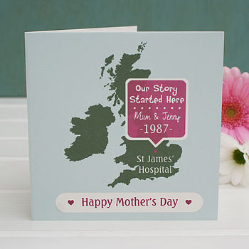 Personalised 'Where Our Story Started' Card