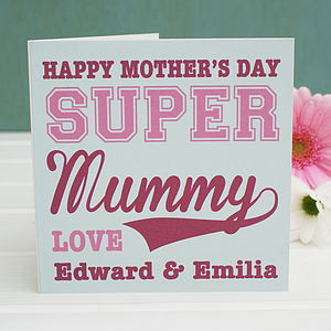 Personalised Super Mother's Day Card - cards & wrap