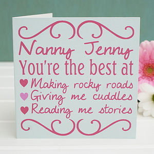 Personalised Pink 'You're The Best' Card