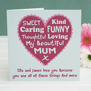 Personalised 'We Love You Because..' Mum Card - cards & wrap