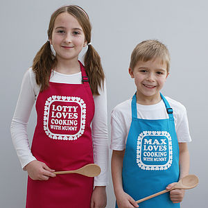 Personalised Cooking With You Kids Apron - winter sale