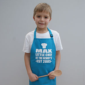 Personalised Little Chef Childrens Apron - winter sale