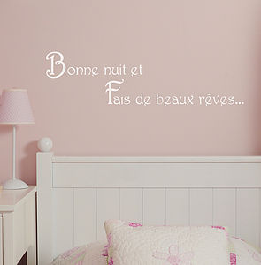'Bonne Nuit' Good Night Wall Sticker - decorative accessories