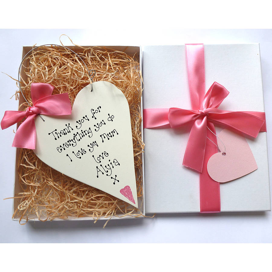 Personalised mothers day gift box by country heart