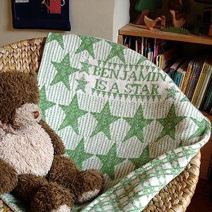 Personalised Star Blanket