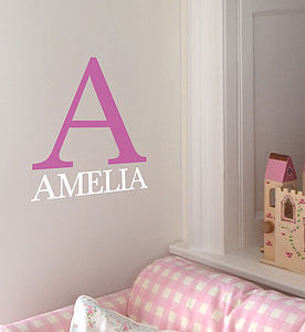 Personalised Monogram Wall Sticker - decorative letters