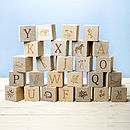 Personalised Wooden Alphabet Keepsake Blocks