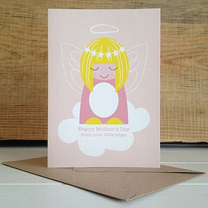 Little Angel Mothers Day Card - view all mother's day gifts