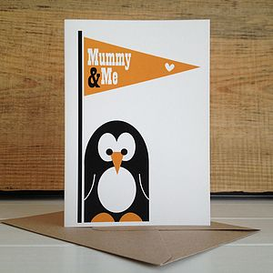 Mummy And Me Penguin Mothers Day Card - cards & wrap