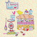 'I Love To Bake' Cards