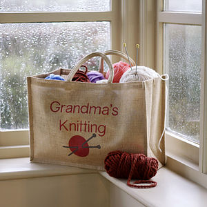 Personalised Knitting Bag - storage baskets
