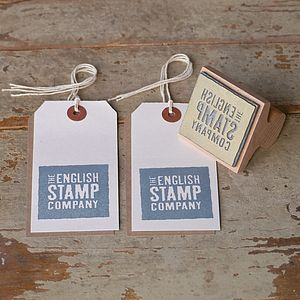 Personalised Image Rubber Stamp - ribbon & wrap