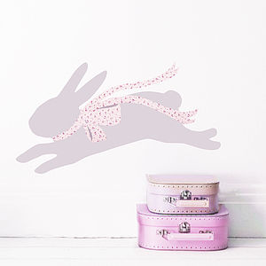 Leaping Rabbit Wall Sticker