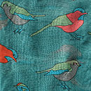 Colourful Birds Print Scarf