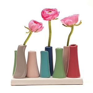 Colourful China Multi Stem Vase - table decorations