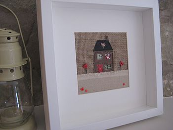 Textile Art 'Home Is Where The Heart Is'