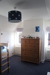 Stars And Denim Ceiling Lamp - children's lighting