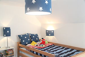 Stars And Denim Table Light Shade - children's lighting