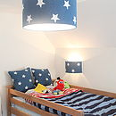 Stars And Denim Table Light Shade