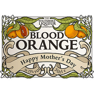 Personalised Blood Orange Liqueur - food & drink