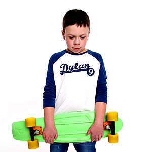Personalised Baseball T Shirt - gifts: under £25