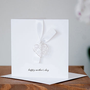 'Happy Mother's Day' Card With Wire Heart
