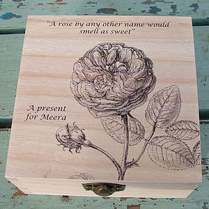 Personalised Rose Trinket Box